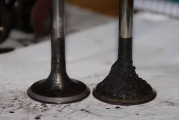 Извлечённые клапаны двигателя