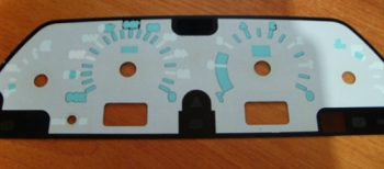Пластина со шкалой и разметками ВАЗ 2115