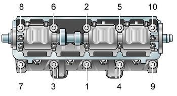 Порядок прикручивания болтов на блоке цилиндров