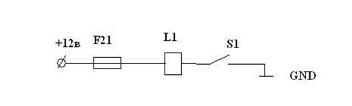 Схема управления соленоидом