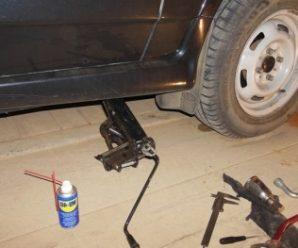 Замена наконечника рулевой тяги на ВАЗ 2114