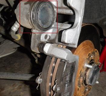 Тормозной поршень на автомобиле