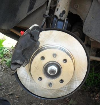 Заменённые тормозные диски