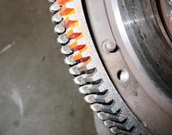 Зубный ряд махового колеса