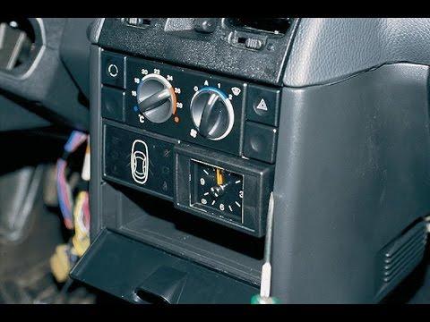 Как правильно снять часы, блок индикации на автомобиле ВАЗ 2110, 2111, 2112